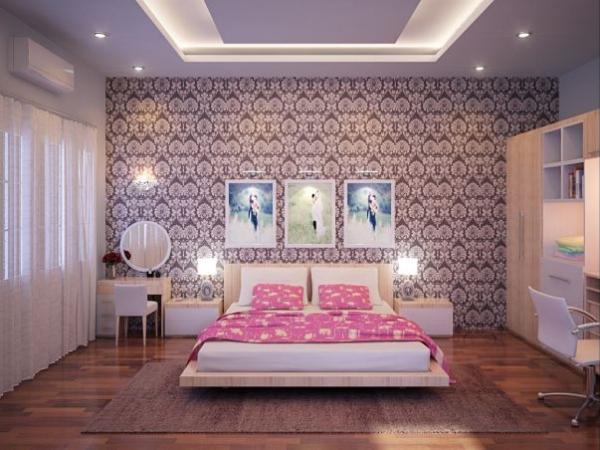Giấy dán tường phòng ngủ tap hop mau phong ngu dan tuong dep quyen ru m1