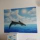 Tranh giấy dán tường cá heo 68d90fc46d9f8dc1d48e